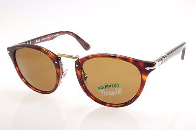4bf32884fc635 New authentic sunglasses Persol Typewriter 3108S 24 57 49 Havana Brown  Polarized