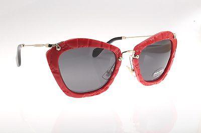 c6e21853d39 New original Miu Miu SMU 10NS USX-5S0 55 Women`s Sunglasses Red Gray ...