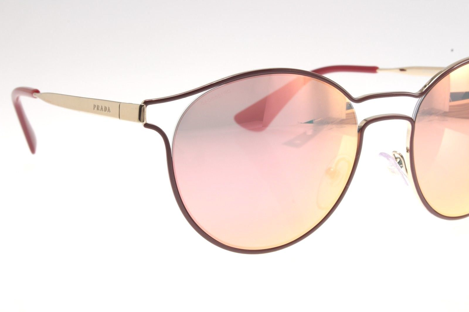 083a6477a1 New original Prada SPR 62SS USH-5L2 53 Women Sunglasses Bordeaux   Pale Gold