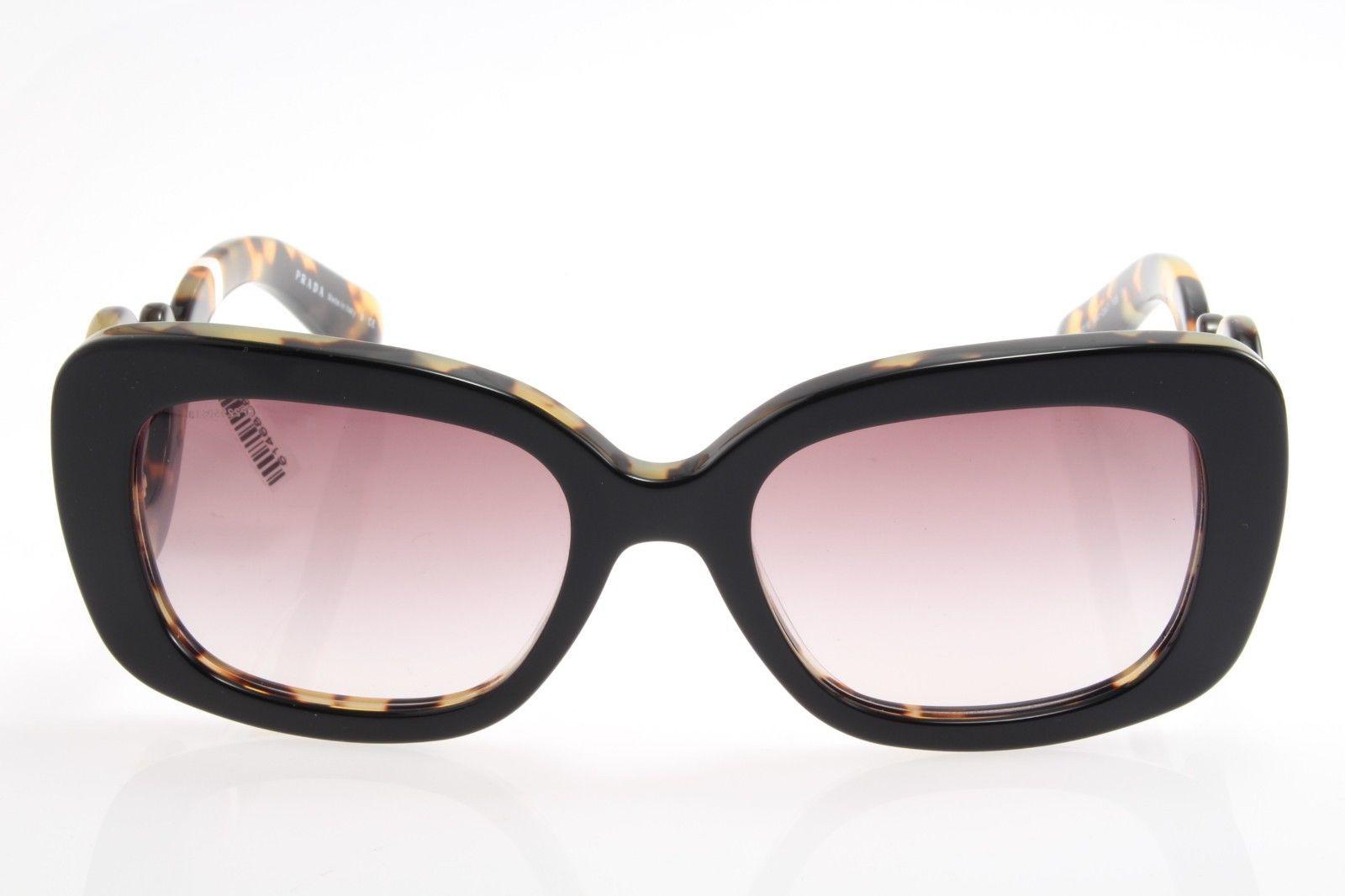 5d775bf13 ... purchase new original prada baroque spr 27os nai 0a7 womens sunglasses  top black havana 2f50a cea69 ...