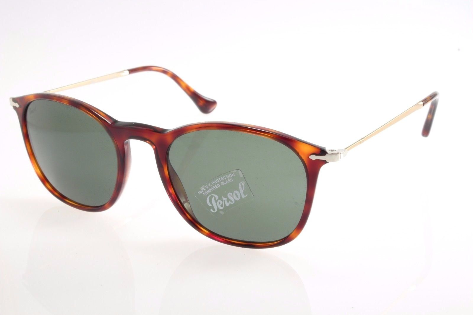 22e05c0dc4 New authentic sunglasses Persol 3124S 24 31 50 Havana Green Crystal 50mm