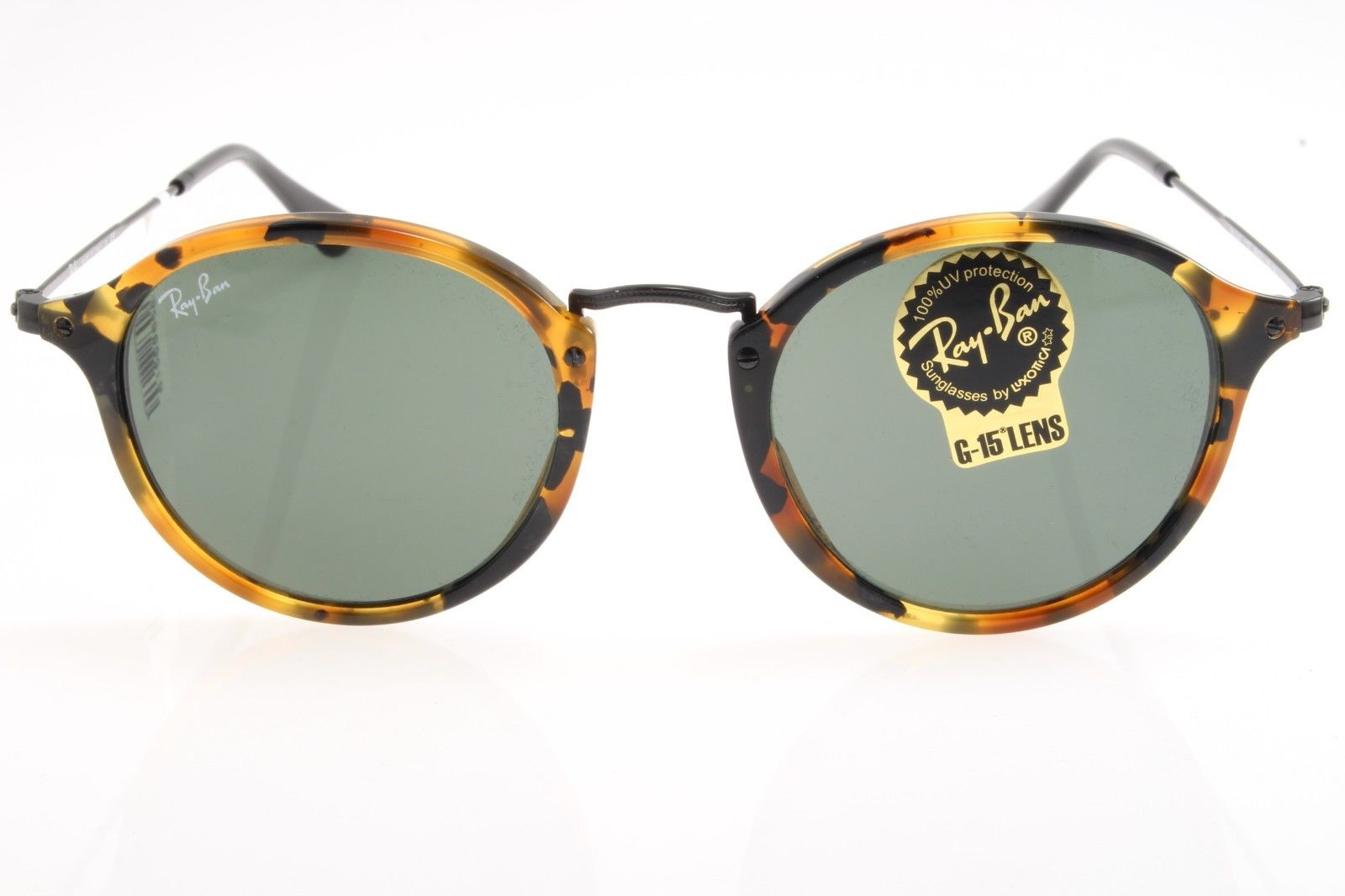 New original sunglasses Ray Ban RB 2447 1157 49 Spotted Black Havana Green  Lens 251623cdb2