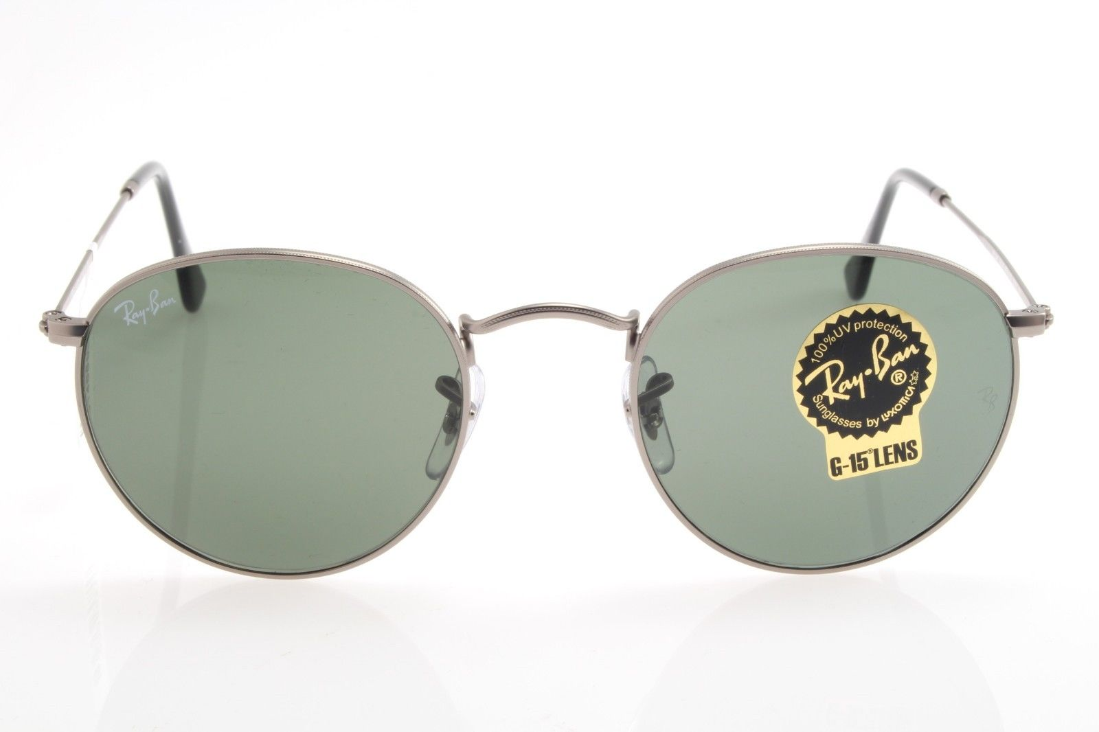 c9230a948d New original sunglasses Ray Ban RB 3447 029 47 Round Metal Matte Gunmetal  Green