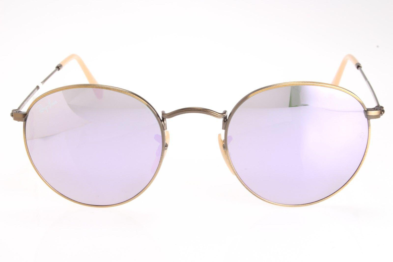 967d13f934f New original sunglasses Ray Ban RB 3447 167 4K 50 Round Bronze Lilac  mirrored