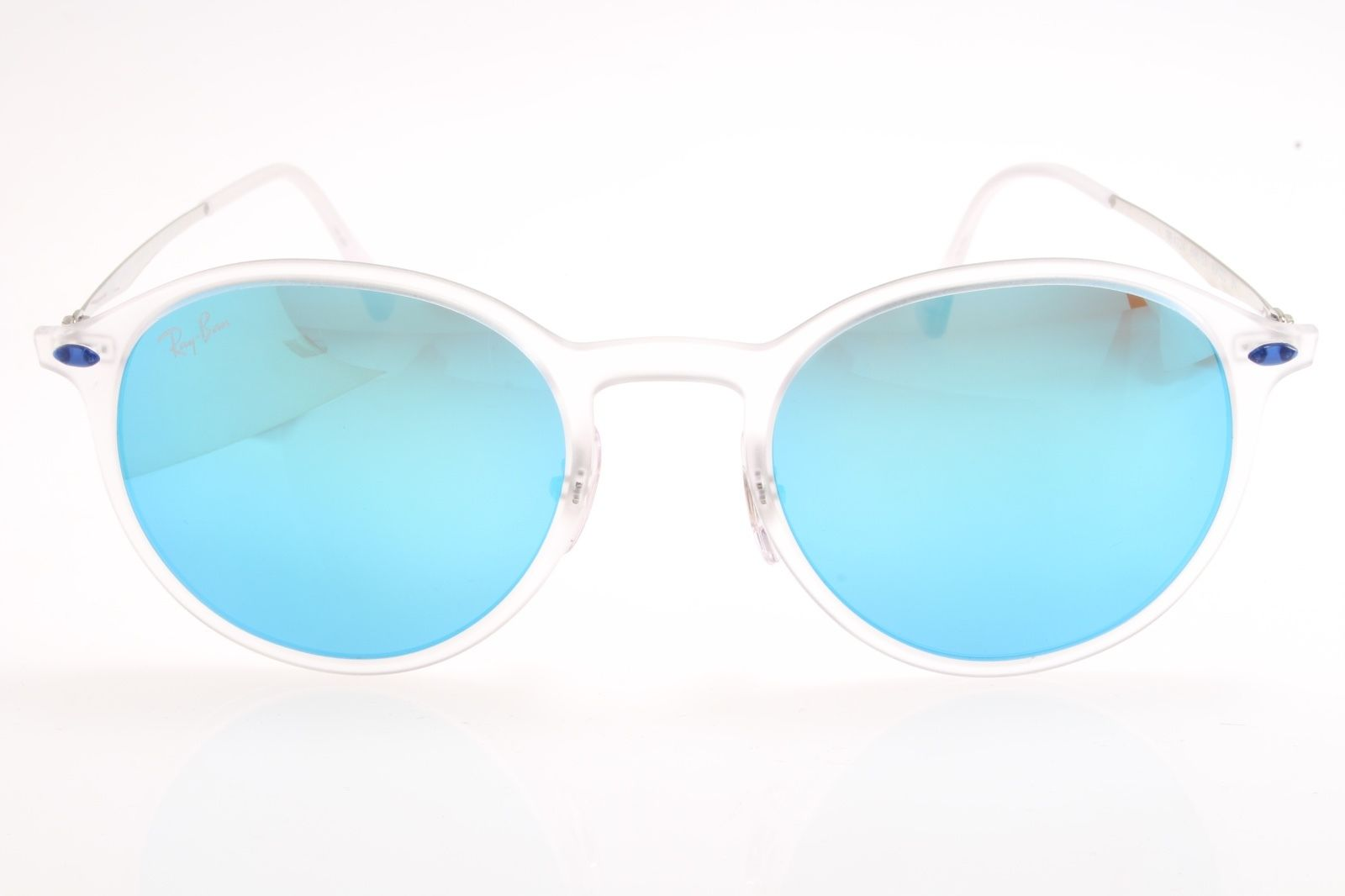 c88063a241ae1 New original Ray Ban RB Lightray 4224 646 55 49 Matte Transparent Blue  Mirrored