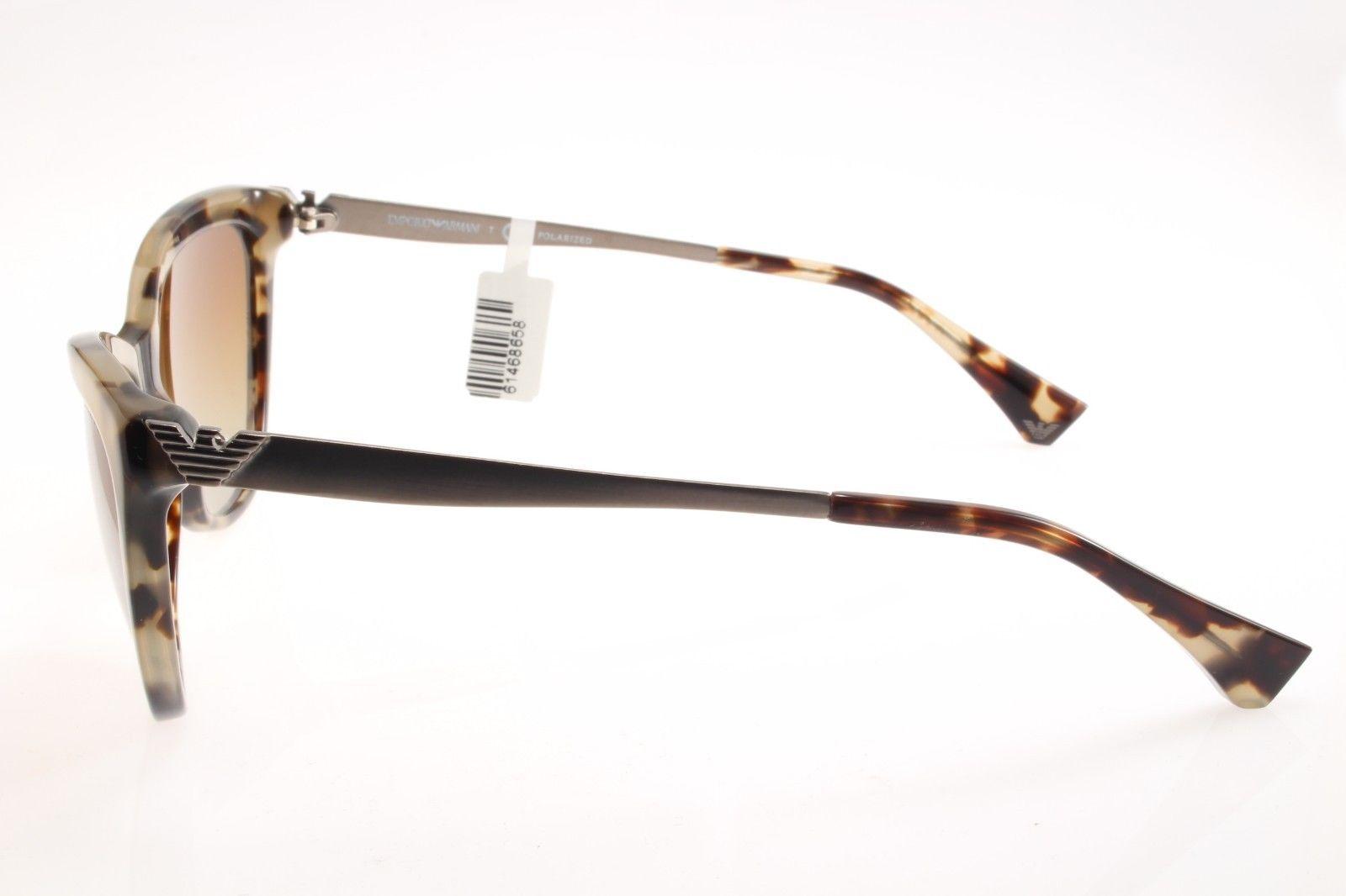 5c6fb867e9ed New original Emporio Armani EA 4030 5234 T5 57 Women Sunglasses Havana  Polarized