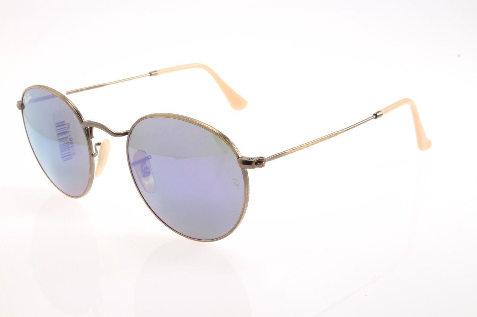 8b61b5067eb New original sunglasses Ray Ban RB 3447 167 68 50 Round Bronze Blue mirrored