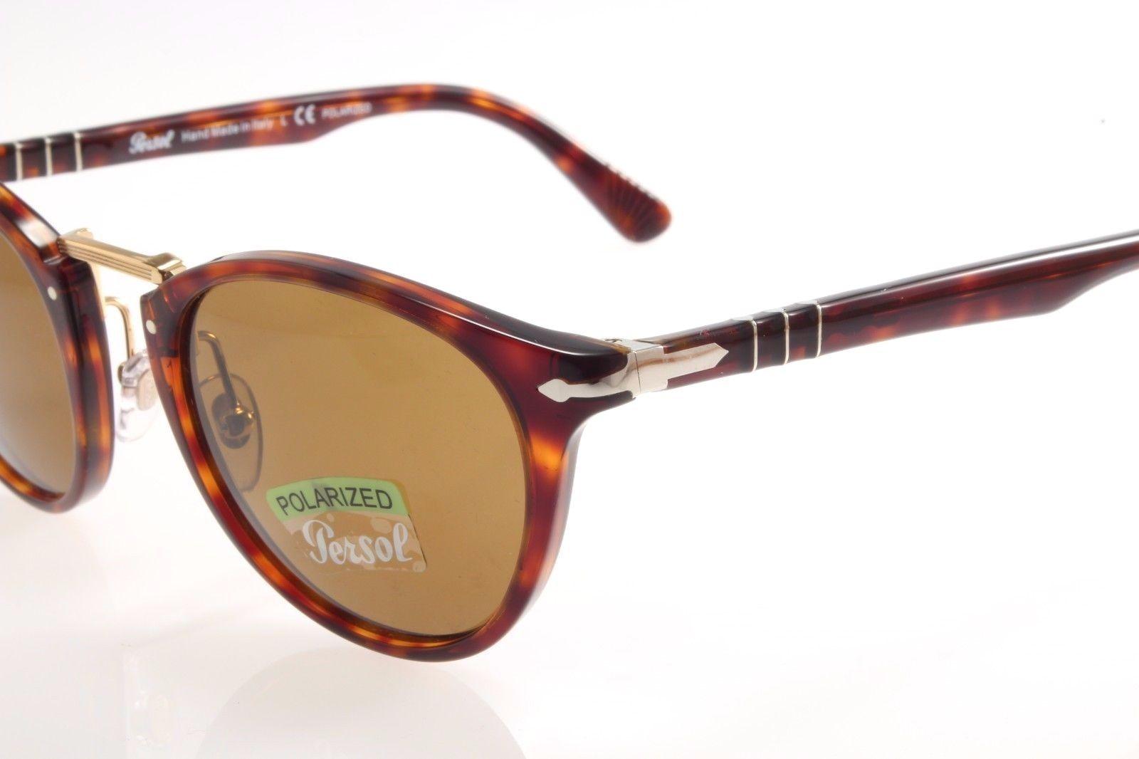 ee2de662c90a New authentic sunglasses Persol Typewriter 3108S 24/57 49 Havana Brown  Polarized