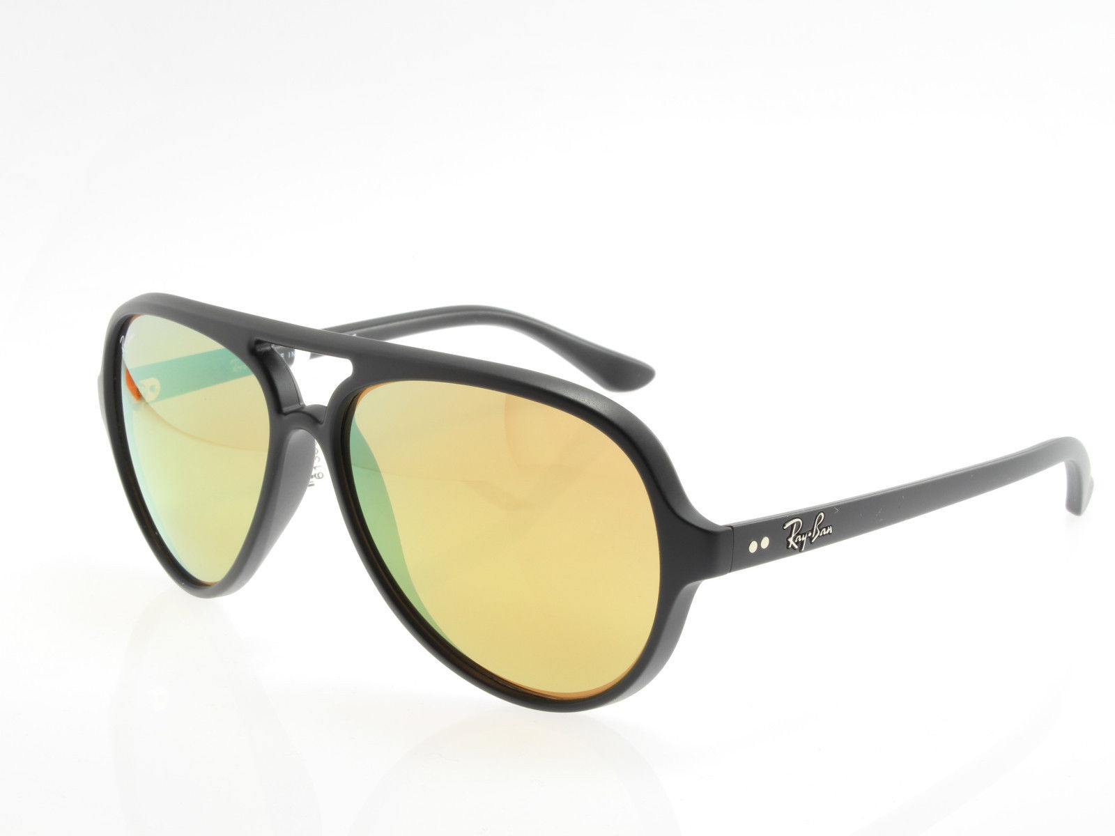 9b11c483a9d9a ... uk new original sunglasses ray ban rb 4125 601 s 93 cats 5000 black  gold mirror