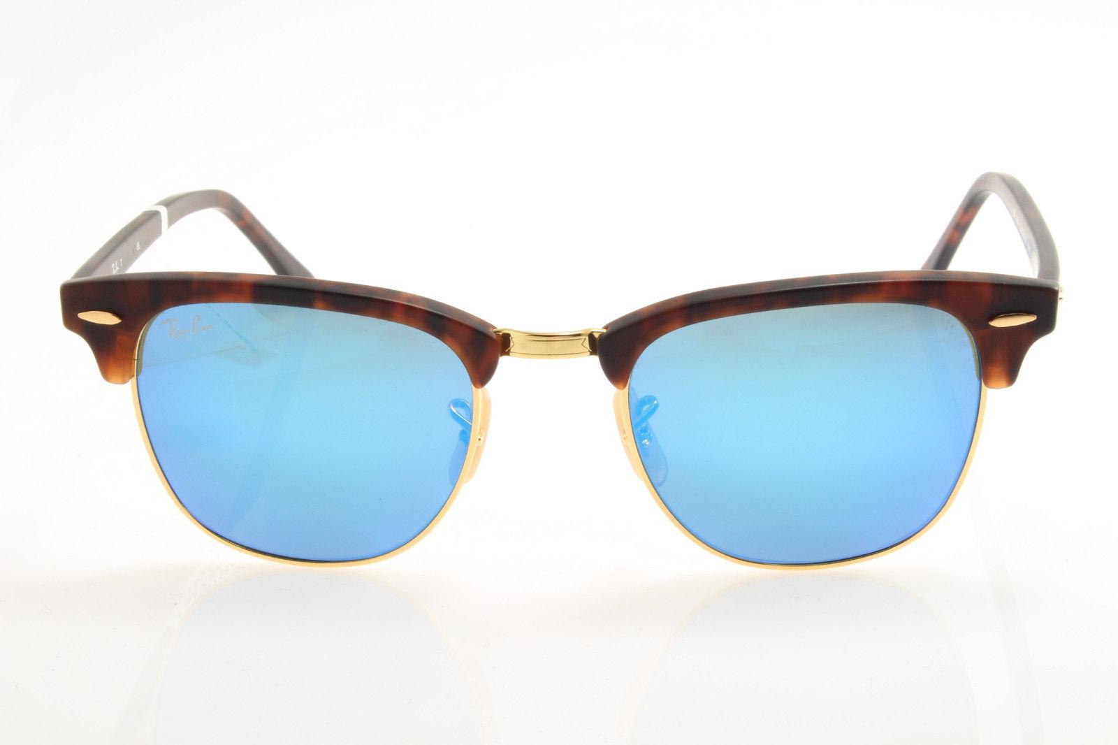 72493d2bf5f New original sunglasses Ray Ban RB 3016 Clubmaster 1145 17 49 Havana Blue  Mirror