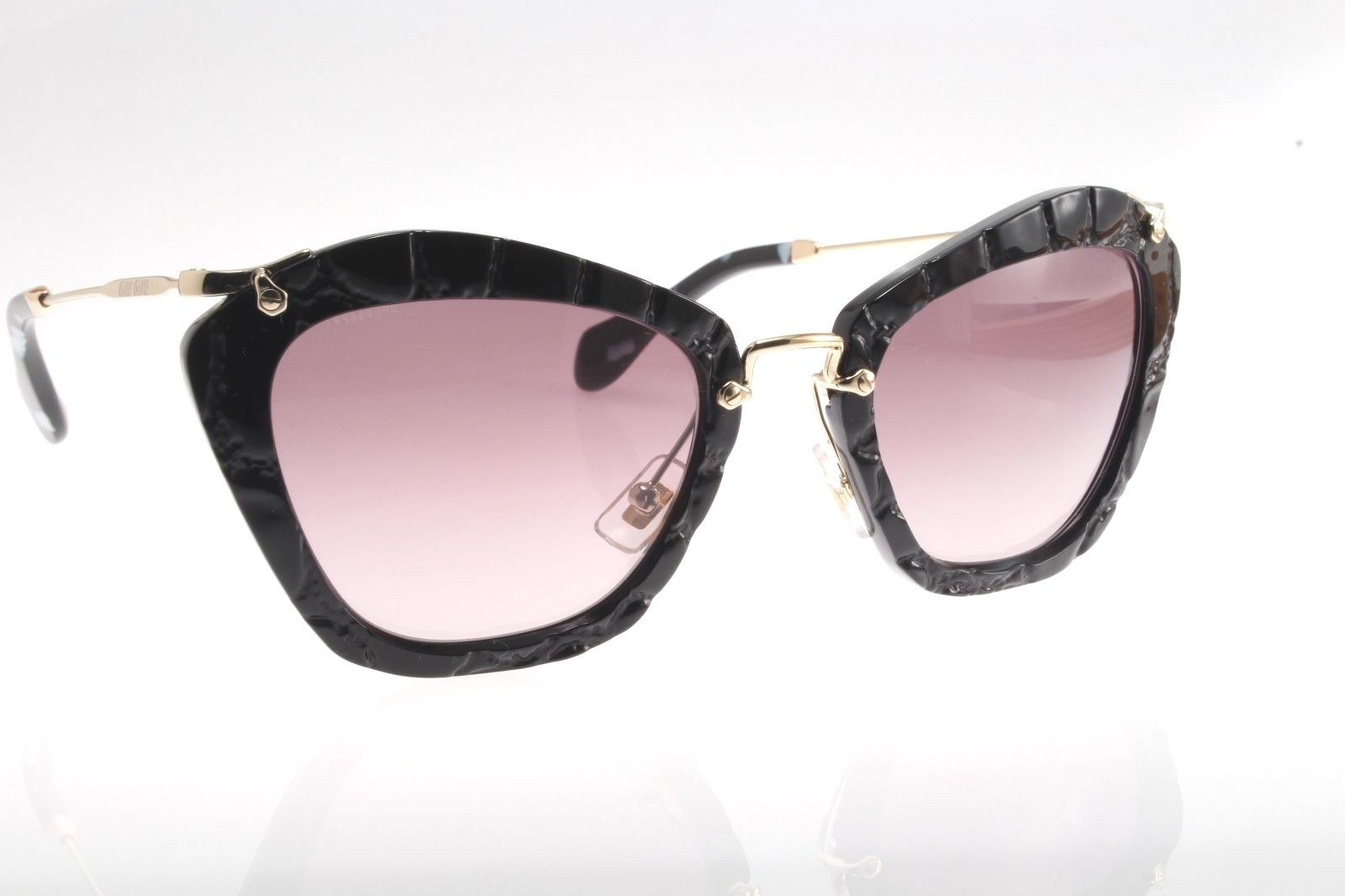 f3c6245fba4 New original Miu Miu SMU 10NS USW-3M1 55 Women`s Sunglasses Black Gray  Gradient