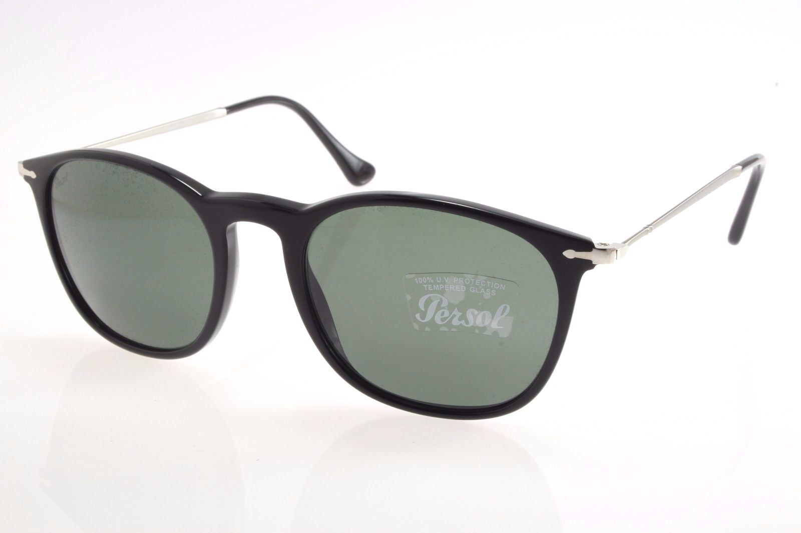 09bb0ec7ee New authentic sunglasses Persol 3124S 95 31 50 Black   Green Crystal 50mm