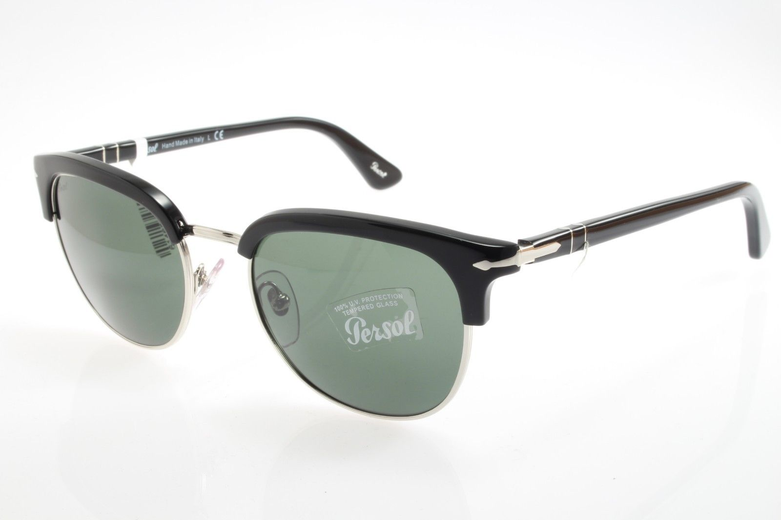 1508fd303a New authentic sunglasses Persol 3105S 95 31 51mm Black Crystal Green ...